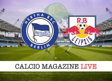 Hertha Berlino RB Lipsia cronaca diretta live risultato in tempo reale