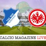 Hoffenheim Eintracht Francoforte cronaca diretta live risultato in tempo reale
