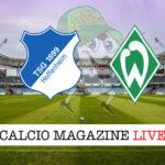 Hoffenheim Werder Brema cronaca diretta live risultato in tempo reale