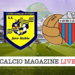Juve Stabia Catania cronaca diretta live risultato in tempo reale