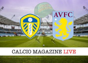 Leeds United Aston Villa cronaca diretta live risultato in tempo reale