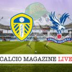 Leeds United Crystal Palace cronaca diretta live risultato in tempo reale