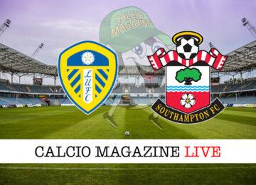 Leeds United Southampton cronaca diretta live risultato in tempo reale