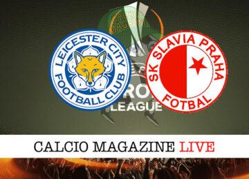 Leicester Slavia Praga cronaca diretta live risultato in tempo reale