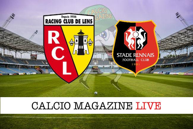 Lens Rennes cronaca diretta live risultato in tempo reale