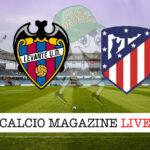Levante Atletico Madrid cronaca diretta live risultato in tempo reale