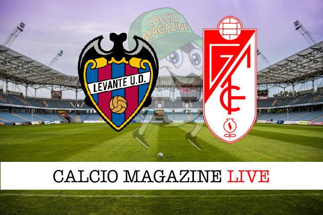 Levante Granada cronaca diretta live risultato in tempo reale
