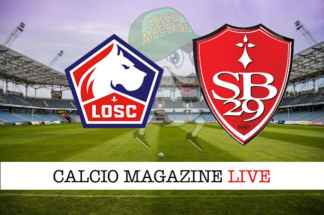 Lille Brest cronaca diretta live risultato in tempo reale