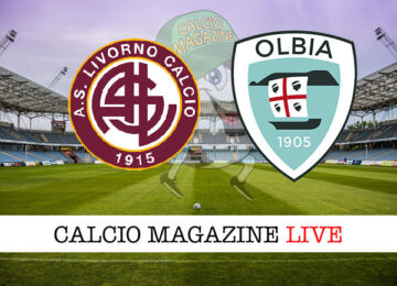 Livorno Olbia cronaca diretta live risultato in tempo reale