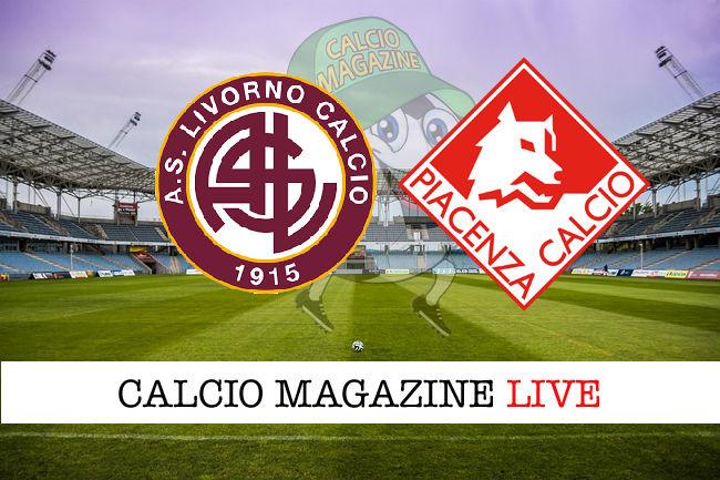 Livorno Piacenza cronaca diretta live risultato in tempo reale