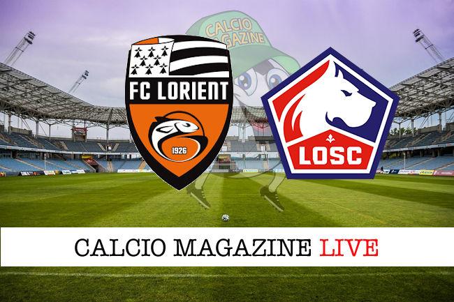 Lorient Lille cronaca diretta live risultato in tempo reale