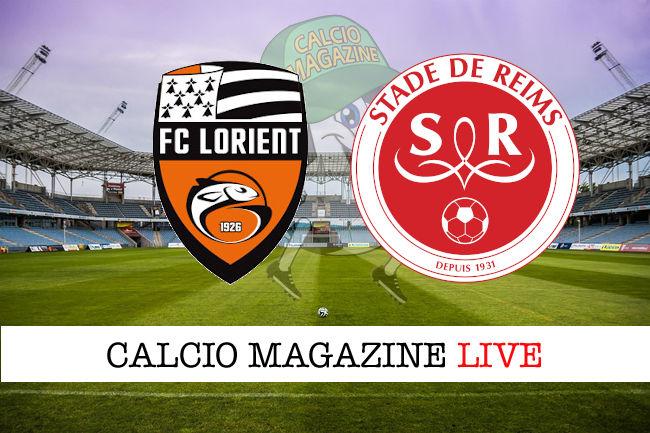 Lorient Reims cronaca diretta live risultato in tempo reale