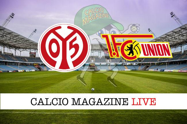 Mainz 05 Union Berlino cronaca diretta live risultato in tempo reale