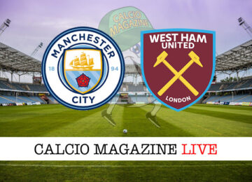 Manchester City West Ham cronaca diretta live risultato in tempo reale