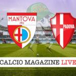 Mantova Padova cronaca diretta live risultato in tempo reale