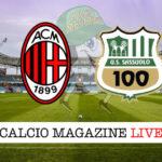 Milan Sassuolo cronaca diretta live risultato in tempo reale