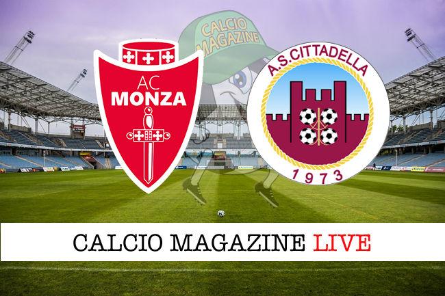 Monza Cittadella cronaca diretta live risultato in tempo reale