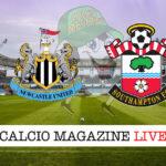 Newcastle Southampton cronaca diretta live risultato in tempo reale