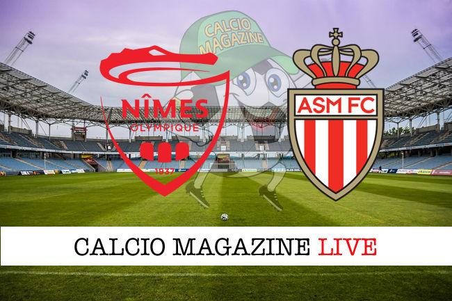 Nimes Olympique Monaco cronaca diretta live risultato in tempo reale