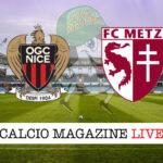 Nizza Metz cronaca diretta live risultato in tempo reale
