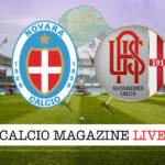 Novara Alessandria cronaca diretta live risultato in tempo reale