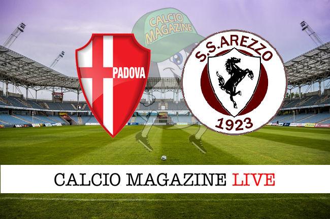 Padova Arezzo cronaca diretta live risultato in tempo reale