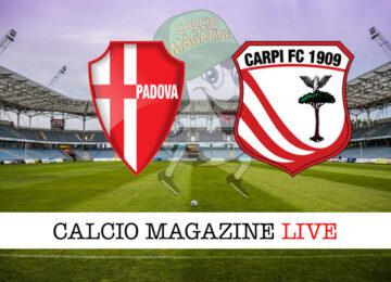 Padova Carpi cronaca diretta live risultato in tempo reale