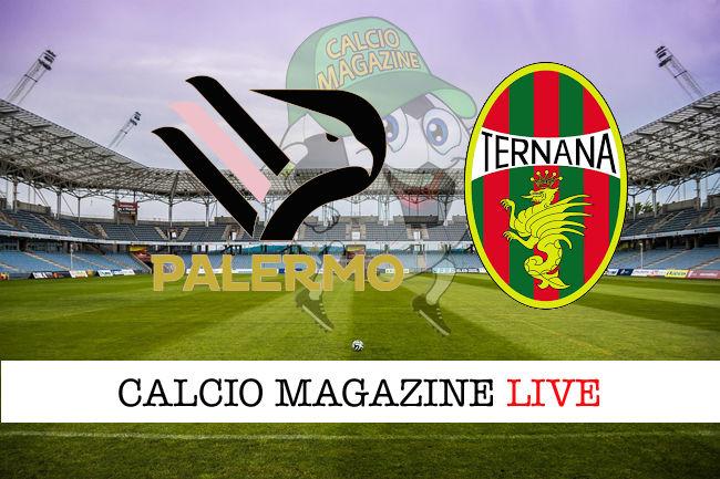 Palermo Ternana cronaca diretta live risultato in tempo reale