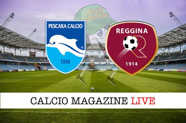 Pescara Reggina cronaca diretta live risultato in tempo reale