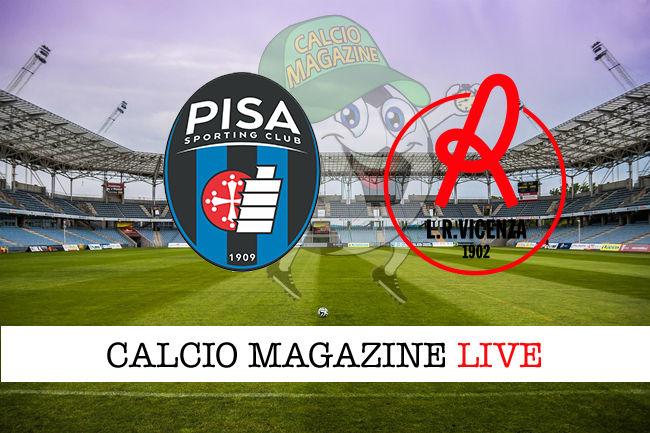Pisa Vicenza cronaca diretta live risultato in tempo reale