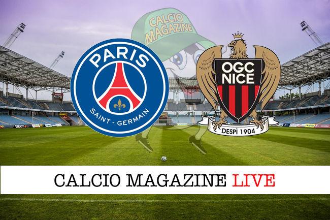PSG Nizza cronaca diretta live risultato in tempo reale