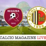 Reggiana Ascoli cronaca diretta live risultato in tempo reale