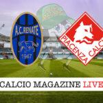 Renate Piacenza cronaca diretta live risultato in tempo reale