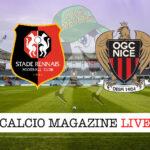 Rennes Nizza cronaca diretta live risultato in tempo reale