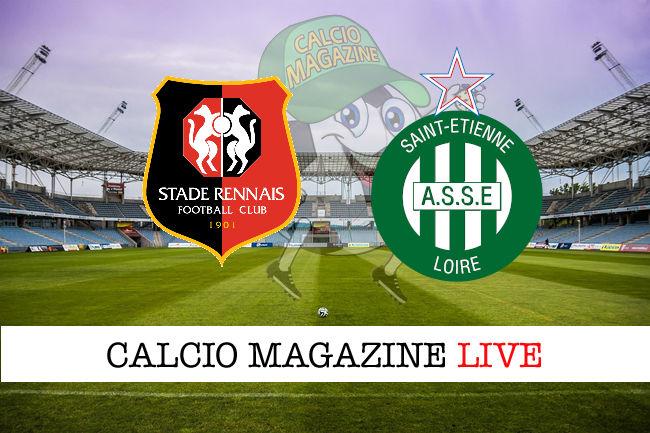 Rennes St. Etienne cronaca diretta live risultato in tempo reale