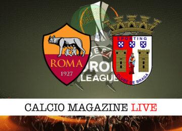Roma Sporting Braga cronaca diretta live risultato in tempo reale