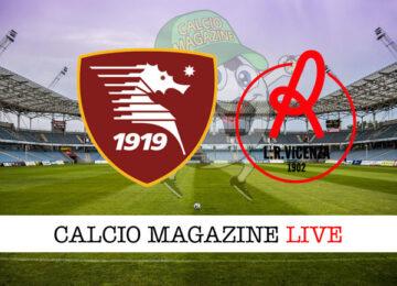 Salernitana Vicenza cronaca diretta live risultato in tempo reale