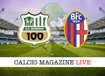 Sassuolo Bologna cronaca diretta live risultato in tempo reale