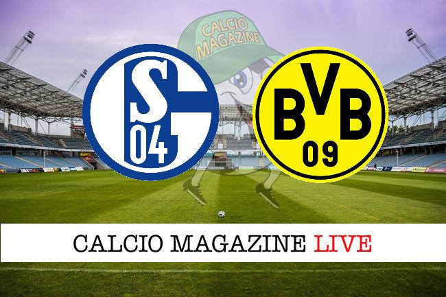 Schalke 04 Borussia Dortmund cronaca diretta live risultato in tempo reale