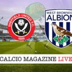 Sheffield United West Bromwich cronaca diretta live risultato in tempo reale
