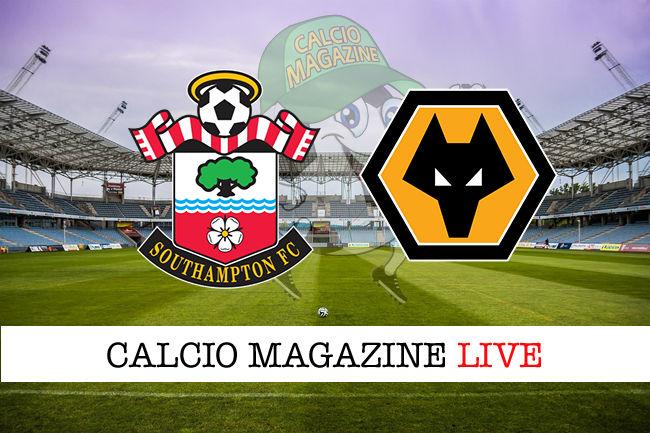 Southampton Wolverhampton cronaca diretta live risultato in tempo reale