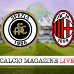 Spezia Milan cronaca diretta live risultato in tempo reale