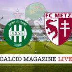 St. Etienne Metz cronaca diretta live risultato in tempo reale