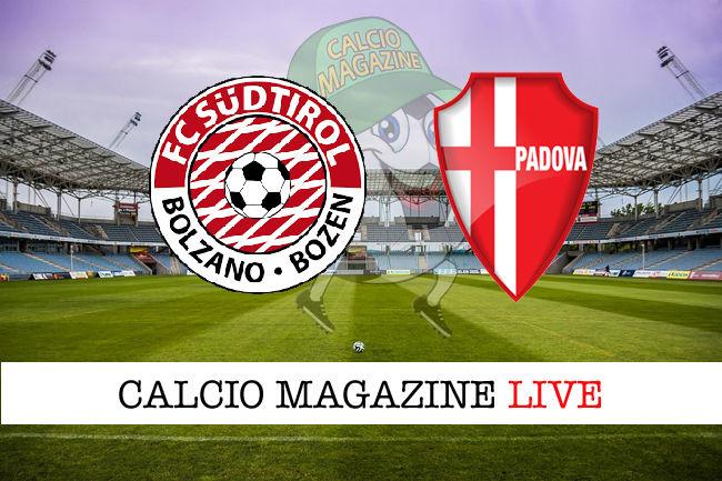 Sudtirol Padova cronaca diretta live risultato in tempo reale