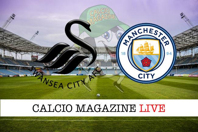 Swansea Manchester City cronaca diretta live risultato in tempo reale