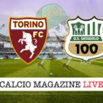 Torino Sassuolo cronaca diretta live risultato in tempo reale