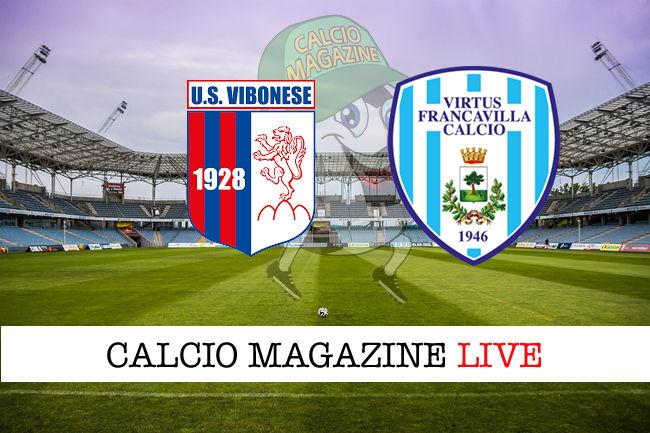Vibonese Virtus Francavilla cronaca diretta live risultato in tempo reale