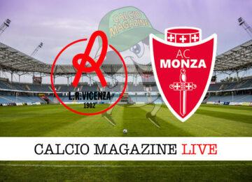Vicenza Monza cronaca diretta live risultato in tempo reale