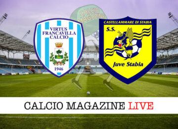 Virtus Francavilla Juve Stabia cronaca diretta live risultato in tempo reale