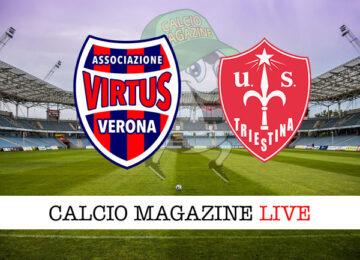 Virtus Verona Triestina cronaca diretta live risultato in tempo reale